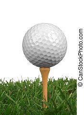 primo piano, palla, golf