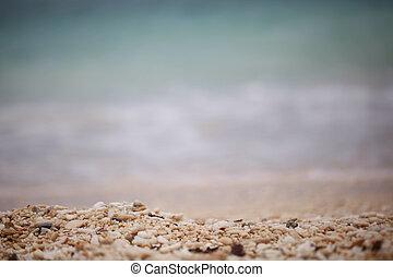 primo piano, sabbia spiaggia