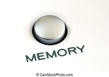 primo piano, vista, di, il, memoria, bottone, anche,...