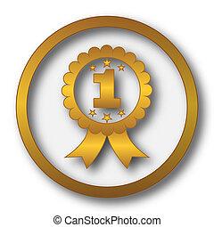 primo premio, nastro, icona