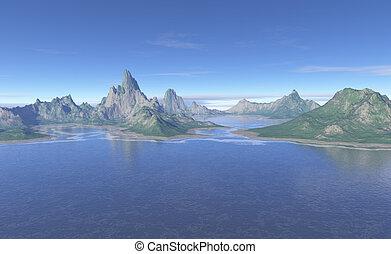 Primordial Landscape - Primordial shoreline of strangely ...