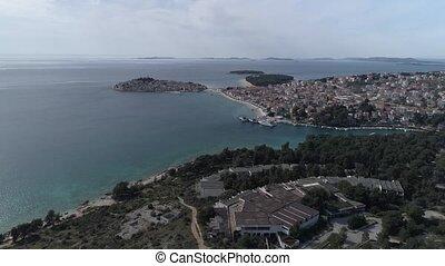 Primosten aerial view - Aerial view of the Primosten coast...