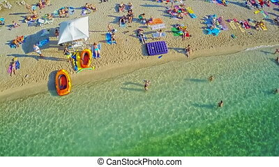 Primosten beaches aerial shot - Primosten beach as UNESCO...