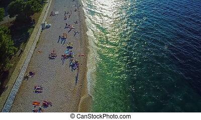 Primosten beaches aerial shot - Primosten is one of the main...