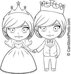 Prince and Princess Coloring Page 3