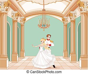 Prince and Princess - Illustration of dancing prince and...
