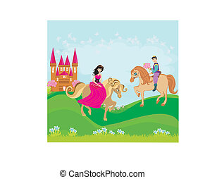 prince and princess on their horses