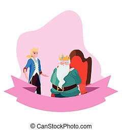 prince charming with king on throne characters
