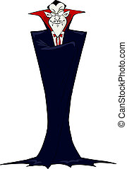 Prince Dracula on a white background vector illustration
