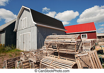Prince Edward island, Canada - Lobster traps at North...