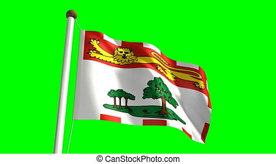 Prince Edward Island flag (seamless & green screen)
