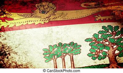 Prince Edward Island Flag Waving