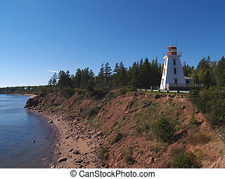 Prince Edward Island Lighthouse - Red and white lighthouse...