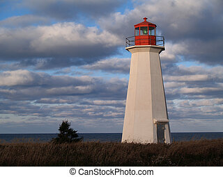 Prince Edward Island Lighthouse - Red and white lighthouse...