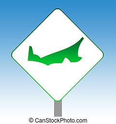Prince Edward Island map road sign