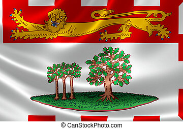 Prince Edward Island Provincial Flag of Canada - 3D...
