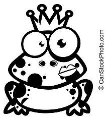 prince, grenouille, esquissé