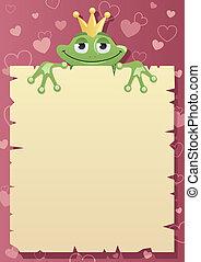 prince grenouille, lettre