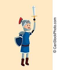 prince knight armor sword shield