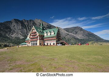 Waterton National Park in Canada - Prince of Wales Hotel in...