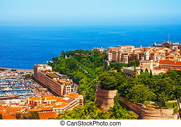Prince palace and old town in Monaco, tiny little country in...