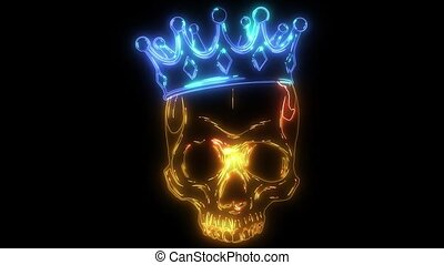 prince skull in crown laser animation - prince skull in...