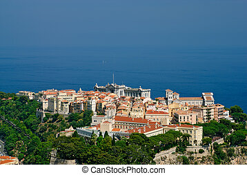 Princely palace and Oceanography museum in Monaco old town