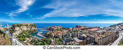 prince's palace in Monte Carlo, Monaco - Panoramic view of ...