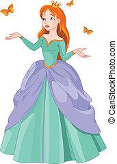princesa, borboletas