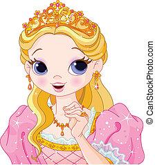 princesa, hermoso
