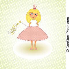 princesa pequena, cartão