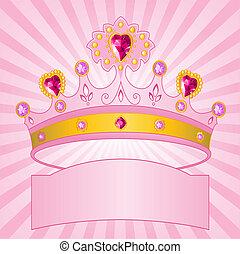 princesa, radial, corona, backgrou
