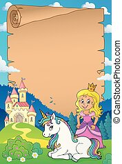 Princess and unicorn theme parchment 1