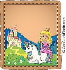 Princess and unicorn theme parchment 2