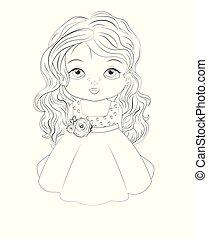 princess baby girl Coloring book
