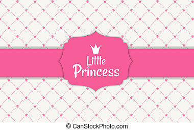 Princess Background with Crown on baclground. Illustration