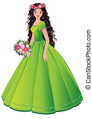 Princess. - Beautiful princess. Vector art-illustration.