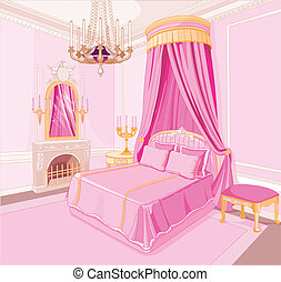 Princess bedroom - Interior of magic princess bedroom