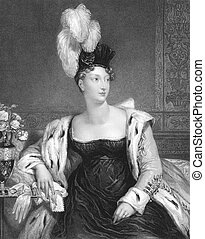 Princess Charlotte Augusta of Wales (1796-1817) on engraving...