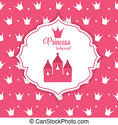 Princess Crown  Background Vector Illustration.
