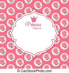 Princess Crown  Background Vector Illustration. EPS10