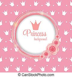 Princess Crown Background Vector Illustration.