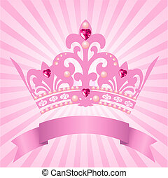 Beautiful background with crown for true princess