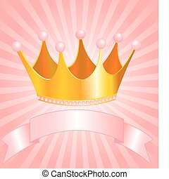 Princess crown - Beautiful background with crown for true...