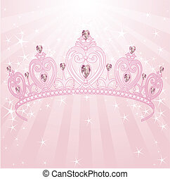 Beautiful, shining, princess crown background