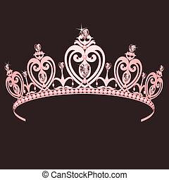 Princess Crown - Beautiful shining true princess crown