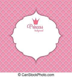 Princess Crown Frame Vector Illustration