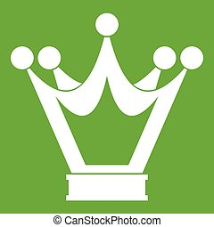 Princess crown icon green