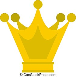 Princess crown icon isolated