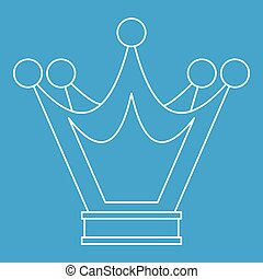 Princess crown icon, outline style